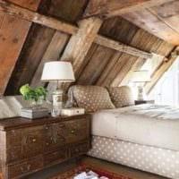 спальня на мансарде дизайн интерьера
