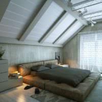 спальня на мансарде фото дизайна