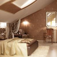 спальня на мансарде идеи декора