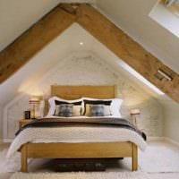 спальня на мансарде идеи дизайн
