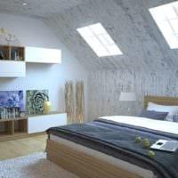 спальня на мансарде идеи дизайна