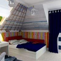 спальня на мансарде идеи интерьер