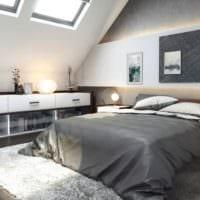 спальня на мансарде красивый интерьер