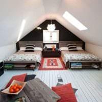 спальня на мансарде оформление