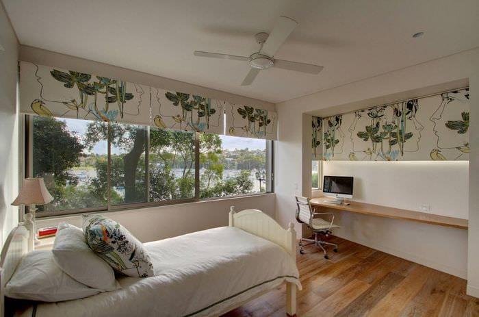 стильный дизайн спальни 16 кв м