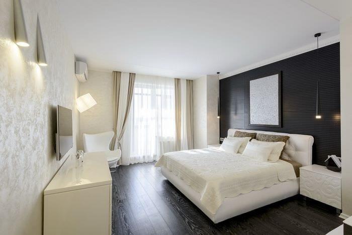 стильный дизайн спальни 11 кв м
