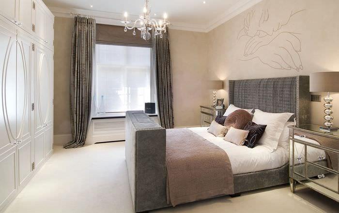 стильный дизайн спальни 14 кв м