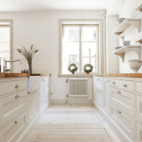 светлые тона кухни