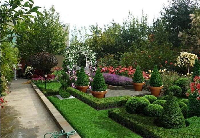 современный дизайн садового участка