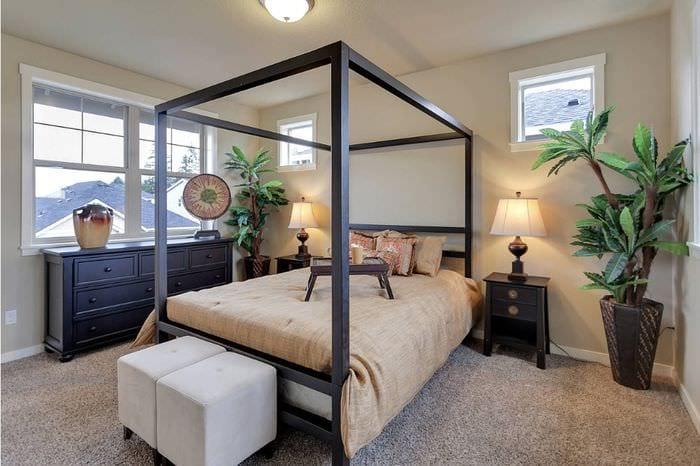 уютный дизайн спальни 16 кв м