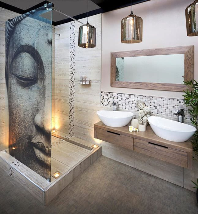 Идеи интерьера ванной комнате фото