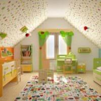 комната для двух разнополых малышей