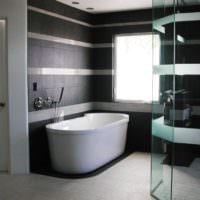 отделка стен в ванной плиткой керамогранитом