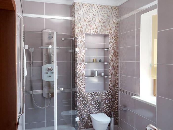 плитка в ванной мозаикой