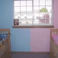 комната мальчика и девочки цветовое зонирование