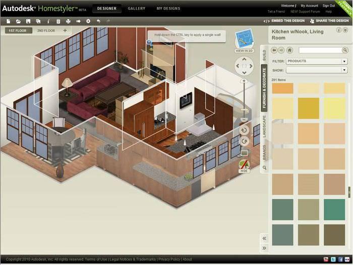 Autodesk homestyler программа