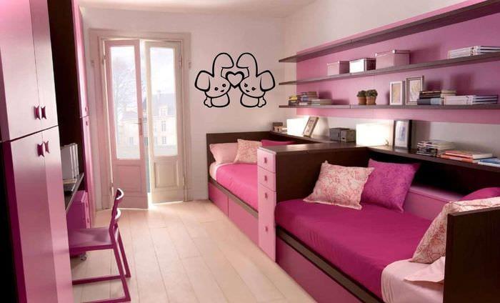 Идеи детской комнаты для двух девочек фото дизайн
