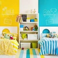 детская комната для мальчика и девочки оформление