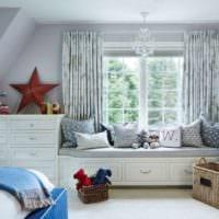 детская комната для мальчика интерьер фото
