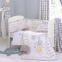 детская комната для новорожденного в светлых тонах