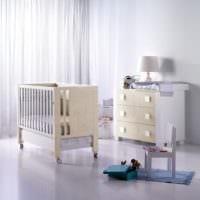 детская комната для новорожденного кровать на колесах