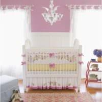 детская комната для новорожденного кровать с бантами
