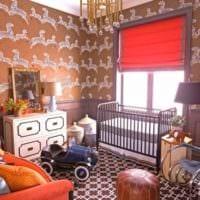 детская комната для новорожденного классическая