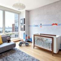 детская комната для новорожденного светлый дизайн