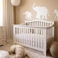 детская комната для новорожденного декор