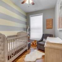 детская комната для новорожденного кровать из светлого дерева