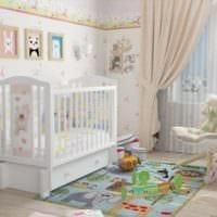 детская комната для новорожденного белая кровать маятник