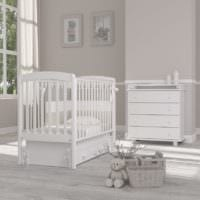 детская комната для новорожденного белая мебель