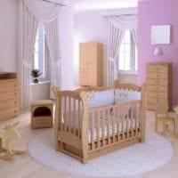 детская комната для новорожденного розовый интерьер