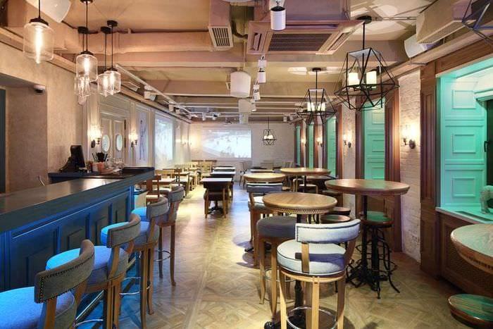 дизайн кафе с барной стойкой