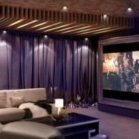 дизайн домашнего кинотеатра декор
