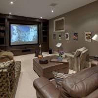 дизайн домашнего кинотеатра фото идеи