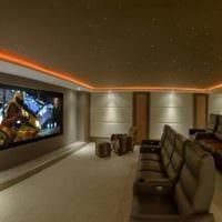 дизайн домашнего кинотеатра фото варианты