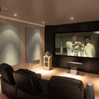 дизайн домашнего кинотеатра идеи интерьера