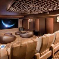 дизайн домашнего кинотеатра мебель