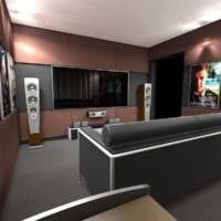 дизайн домашнего кинотеатра варианты фото