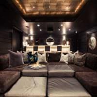 интерьер домашнего кинотеатра дизайн фото