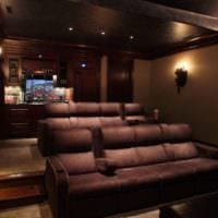 интерьер домашнего кинотеатра идеи