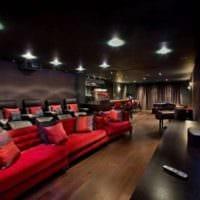 интерьер домашнего кинотеатра идеи дизайн