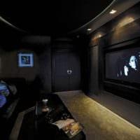 интерьер домашнего кинотеатра идеи дизайна