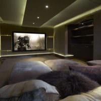 интерьер домашнего кинотеатра освещение
