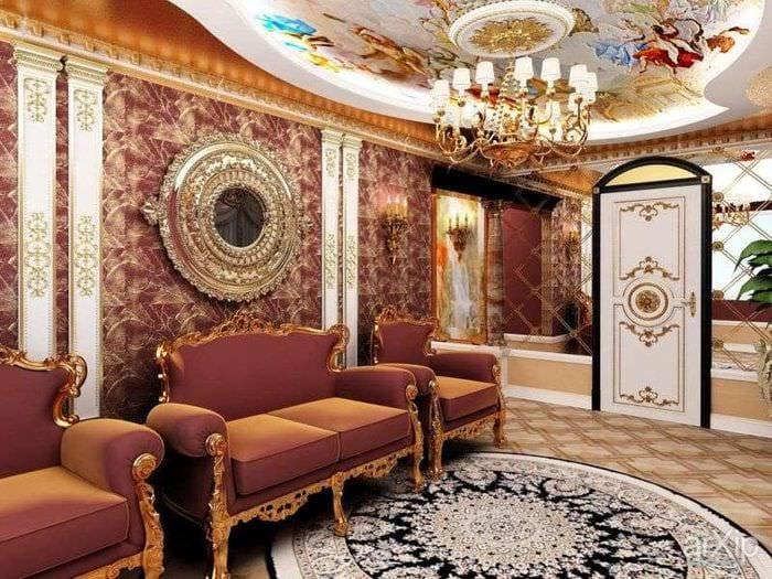 интерьер гостиной барокко