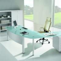 кабинет руководителя мебель стекло