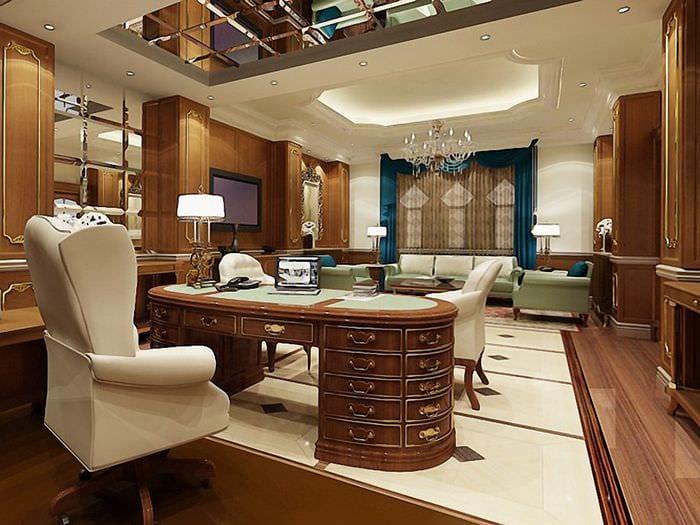 стильный кабинет руководителя