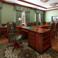 кабинет руководителя зеленые стены