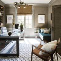 кабинет в квартире интерьер